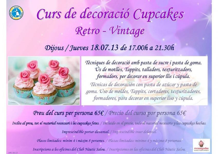 Curs de decoraci de cupcakes retro vintage al club n utic for Decoracio es
