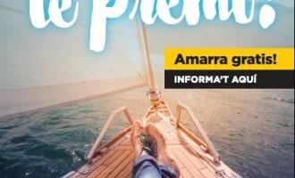 Amarra gratis en 25 puertos catalanes