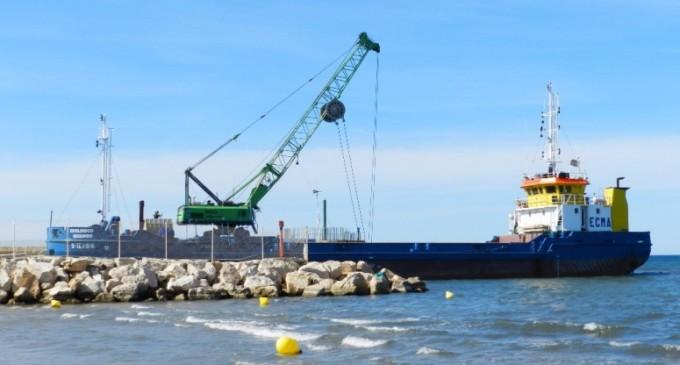Finaliza el dragado de la Bocana del Puerto de Salou
