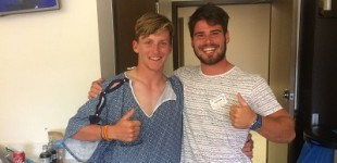 Santi Alegre y Tommy Ciaglia, del CN Garraf, salvan una vida durante el Mundial de 29er