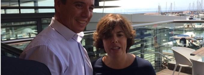 Soraya Sáenz de Santamaria visita las instalaciones del CN de Cambrils después de los atentados