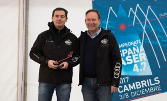 Guillermo López del RCN de Torrevieja Campeón de España de Láser 4,7 y ganador del Gran Premio Audi Tarracomòbil