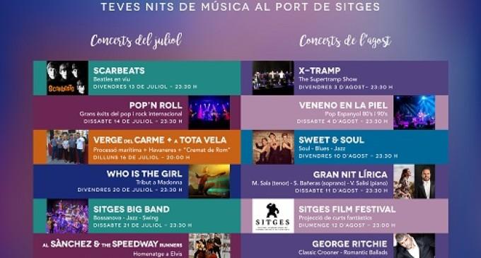 Música en vivo, tributos, cine y mucho más en los 'Concerts de Mitjanit' del Port de Sitges