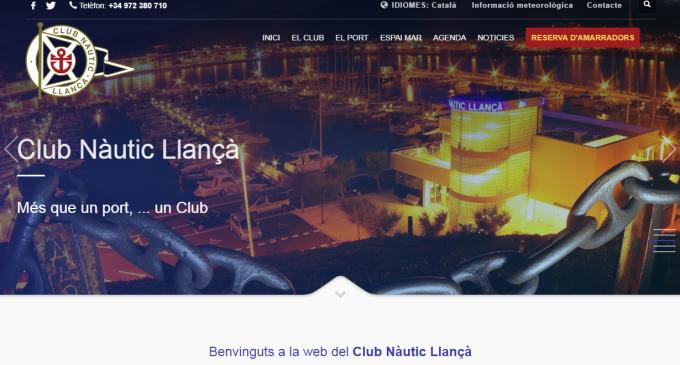 El CN Llançà estrena nueva web y App