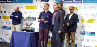 Marc Tello, del CN El Balís,  ganador absoluto de la Clase Europa en el 68º Trofeo de Palma
