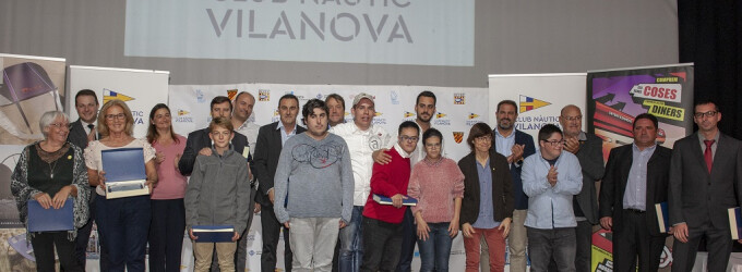 Gran éxito de la Gala de la Náutica y del Deporte en el Club Nàutic Vilanova