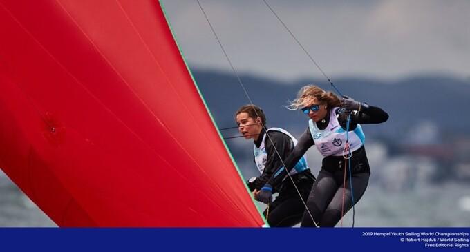 Alicia Fras i Maria González (CN Cambrils) 4ª en 29er al Youth Sailing World Championships