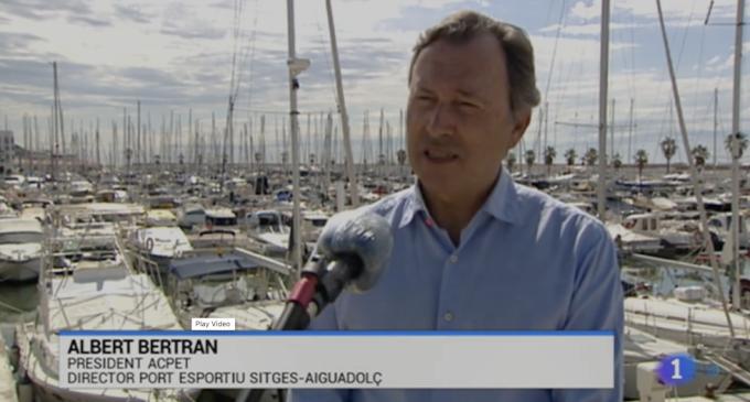 TVE explica la preparación de los Puertos Deportivos de Cataluña para recibir a sus usuarios