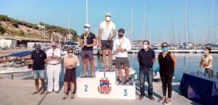 José Luís Doreste (CN Sant Feliu de Guíxols) y Laura Pedraza (CN El Masnou) ganadores del Campeonato de Cataluña por la Clase ILCA Standard y 4,7