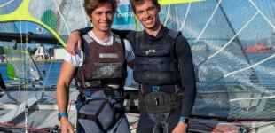 Pol y Alex Marsans (CN Arenys de Mar), participan en el piloto de 49er de la RFEV para París 2024