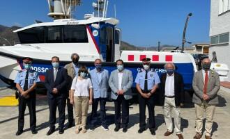 El Club Nàutic Port de la Selva acull l'acte d'avarada de la nova embarcació de la Policia Marítima dels Mossos d'Esquadra